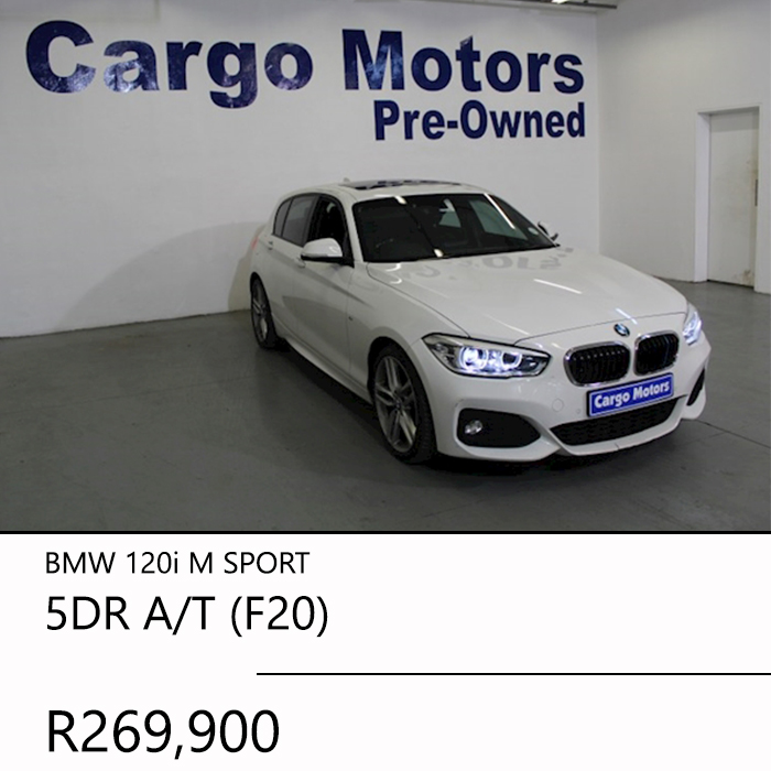 2016 BMW 120i M SPORT 5DR AT F20 R269900